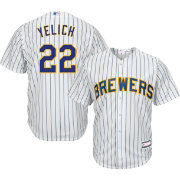 Youth Replica Milwaukee Brewers Christian Yelich #22 Alternate White Jersey