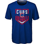 Majestic Boys' Chicago Cubs Dri-Tek Run Scored T-Shirt