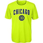 Majestic Youth Chicago Cubs Glowing Game Neon T-Shirt