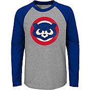 Majestic Youth Chicago Cubs Glory Days Raglan Long Sleeve Shirt