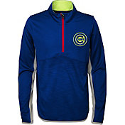 Majestic Youth Chicago Cubs Excellence Quarter-Zip Fleece