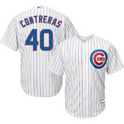 Youth Replica Chicago Cubs Willson Contreras #40 Home White Jersey
