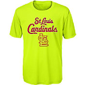 Majestic Youth St. Louis Cardinals Glowing Game Neon T-Shirt
