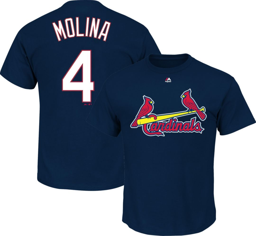 pretty nice 201a0 c7179 Majestic Youth St. Louis Cardinals Yadier Molina Navy T-Shirt