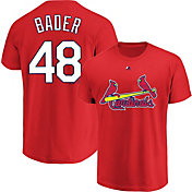Majestic Youth St. Louis Cardinals Harrison Bader #48 Red T-Shirt