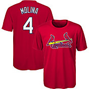 Majestic Youth St. Louis Cardinals Yadier Molina #4 Performance T-Shirt