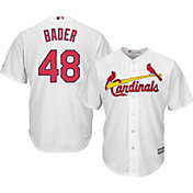 Majestic Youth Replica St. Louis Cardinals Harrison Bader #48 Cool Base Home White Jersey