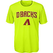 Majestic Youth Arizona Diamondbacks Glowing Game Neon T-Shirt