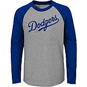 Majestic Youth Los Angeles Dodgers Good Play Raglan Long Sleeve Shirt