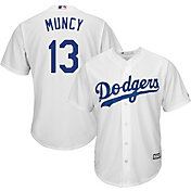Majestic Youth Replica Los Angeles Dodgers Max Muncy #13 Cool Base Home White Jersey