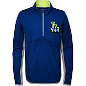 Majestic Youth Los Angeles Dodgers Excellence Quarter-Zip Fleece