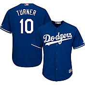 Majestic Youth Replica Los Angeles Dodgers Justin Turner #10 Cool Base Alternate Royal Jersey