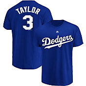 Majestic Youth Los Angeles Dodgers Chris Taylor #3 Royal T-Shirt