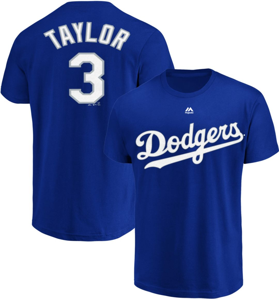 quality design 91b1a fd735 Majestic Youth Los Angeles Dodgers Chris Taylor #3 Royal T-Shirt