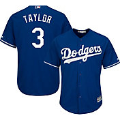 Majestic Youth Replica Los Angeles Dodgers Chris Taylor #3 Cool Base Alternate Royal Jersey