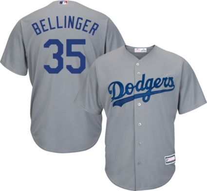 Youth Replica Los Angeles Dodgers Cody Bellinger  35 Road Grey ... b2cf60dfcb3