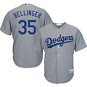 Youth Replica Los Angeles Dodgers Cody Bellinger #35 Road Grey Jersey