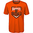Majestic Boys' San Francisco Giants Dri-Tek Run Scored T-Shirt