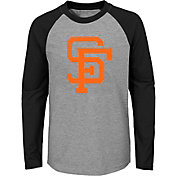 Majestic Youth San Francisco Giants Glory Days Raglan Long Sleeve Shirt