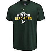 Majestic Youth Oakland Athletics 2018 MLB Postseason Green T-Shirt