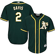 Majestic Youth Replica Oakland Athletics Khris Davis #2 Cool Base Alternate Green Jersey