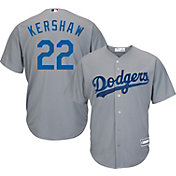 Youth Replica Los Angeles Dodgers Clayton Kershaw #22 Road Grey Jersey