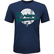 Majestic Youth Seattle Mariners Flagship Tri-Blend T-Shirt