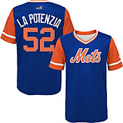 "Majestic Youth New York Mets Yoenis Cespedes ""La Potenzia"" MLB Players Weekend Jersey Top"