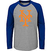 Majestic Youth New York Mets Glory Days Raglan Long Sleeve Shirt