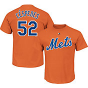 Majestic Youth New York Mets Yoenis Cespedes Orange T-Shirt