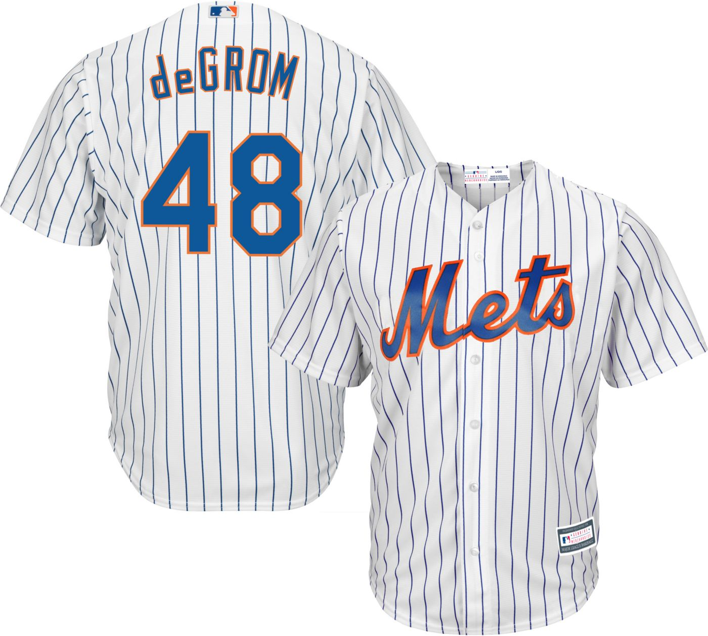 Youth Replica New York Mets Jacob deGrom #48 Home White Jersey