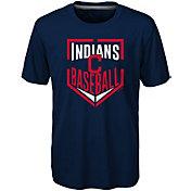 Majestic Boys' Cleveland Indians Dri-Tek Run Scored T-Shirt