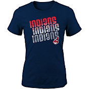 Majestic Youth Girls' Cleveland Indians 3-Peat T-Shirt