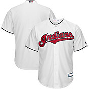 Youth Replica Cleveland Indians Cool Base Home White Jersey