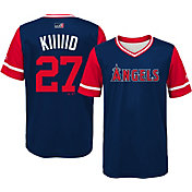 "Majestic Youth Los Angeles Angels Mike Trout ""Kiiiiid"" MLB Players Weekend Jersey Top"