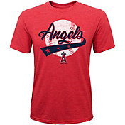 Majestic Youth Los Angeles Angels Flagship Tri-Blend T-Shirt
