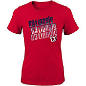Majestic Youth Girls' Washington Nationals 3-Peat T-Shirt