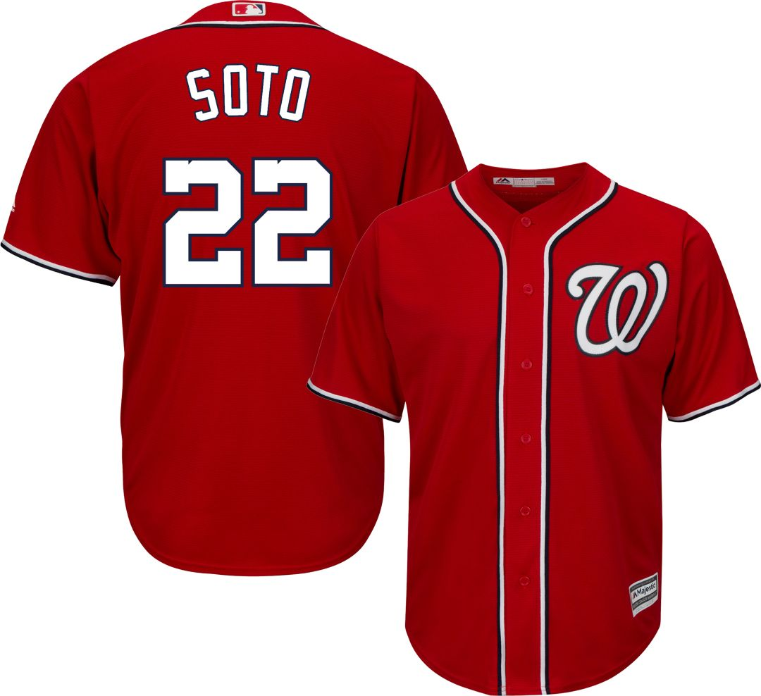 promo code 52238 cd948 Youth Replica Washington Nationals Juan Soto #22 Alternate Red Jersey