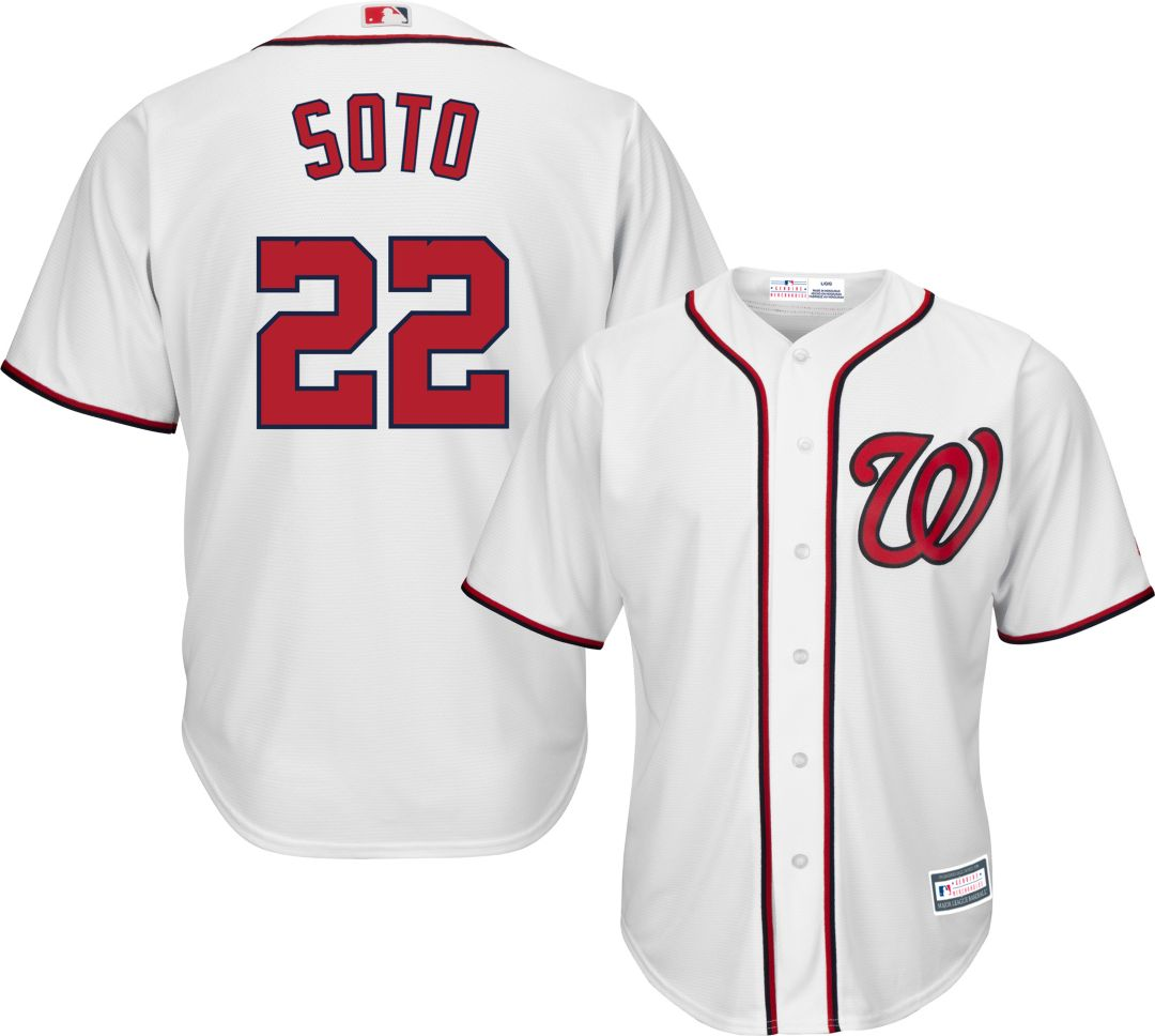 new arrivals 616af d300c Youth Replica Washington Nationals Juan Soto #22 Home White Jersey