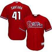 Youth Replica Philadelphia Phillies Carlos Santana #41 Alternate Red Jersey
