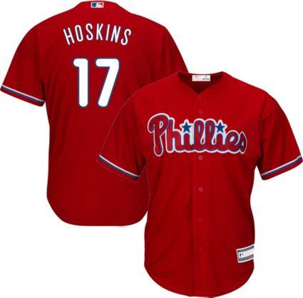 Youth Replica Philadelphia Phillies Rhys Hoskins  17 Alternate Red Jersey.  noImageFound 09b8e8621a0
