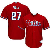Youth Replica Philadelphia Phillies Aaron Nola #27 Alternate Red Jersey