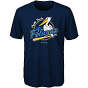 Majestic Youth Myrtle Beach Pelicans Navy T-Shirt