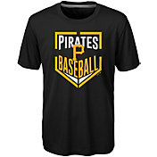 Majestic Boys' Pittsburgh Pirates Dri-Tek Run Scored T-Shirt