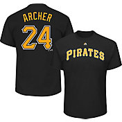 Majestic Youth Pittsburgh Pirates Chris Archer #24 Black T-Shirt