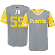 "Majestic Youth Pittsburgh Pirates Josh Bell ""JB"" MLB Players Weekend Jersey Top"