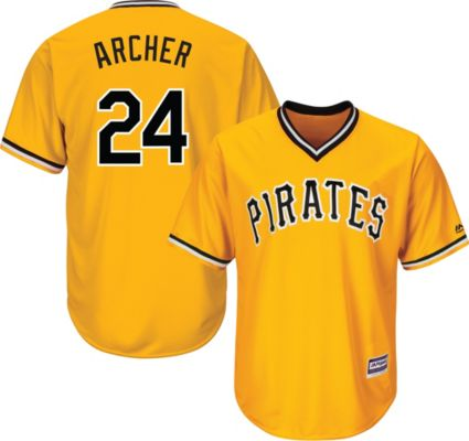 Majestic Youth Replica Pittsburgh Pirates Chris Archer  24 Cool Base  Alternate Gold Jersey. noImageFound b9972d648