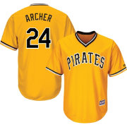 Majestic Youth Replica Pittsburgh Pirates Chris Archer #24 Cool Base Alternate Gold Jersey
