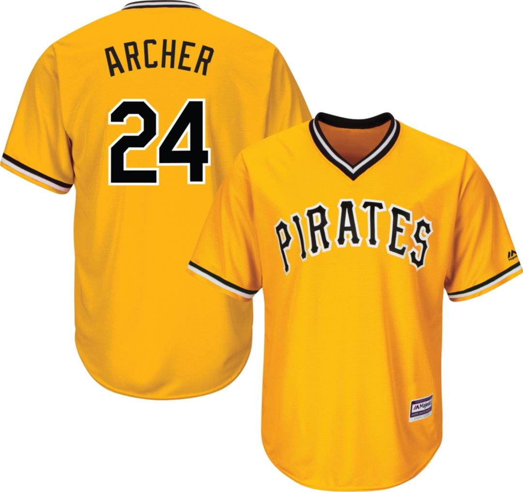 best loved 2a4bf 393da Majestic Youth Replica Pittsburgh Pirates Chris Archer #24 Cool Base  Alternate Gold Jersey