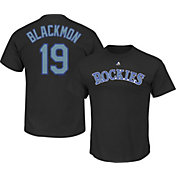 Majestic Youth Colorado Rockies Charlie Blackmon Black T-Shirt